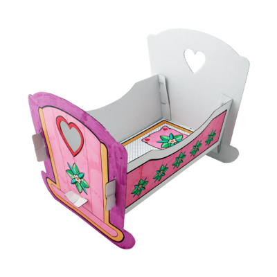Colour your Cardboard - Dollbed