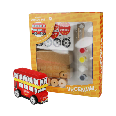 Wooden vehicles - London bus