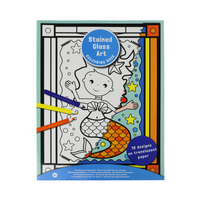 Stained Glass Art - Mermaid