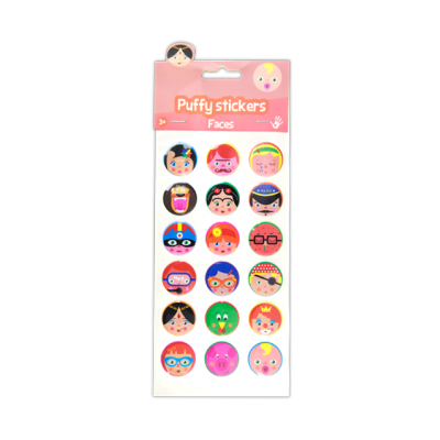 Puffy Stickers - Faces