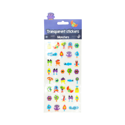 Transparent stickers - Monsters