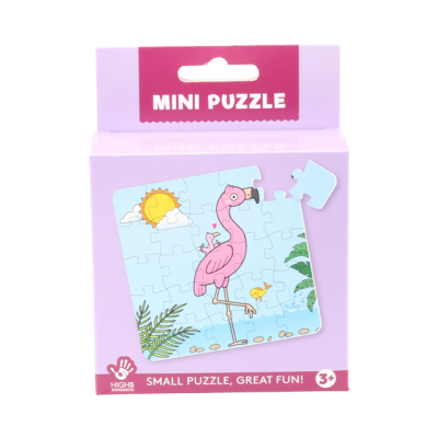 Mini Puzzle - Flamingo