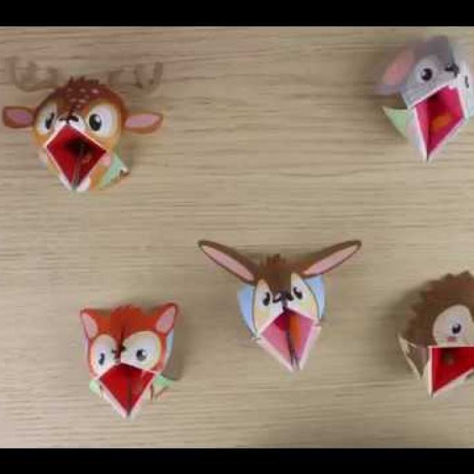 Origami Puppets - Forest Animals