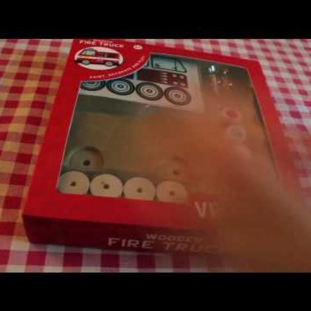 Wooden vehicles - Firetruck